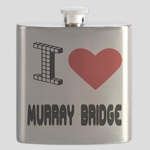 I Love Murray Bridge City Flask
