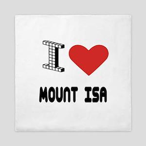I Love Mount Isa City Queen Duvet