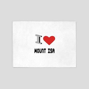 I Love Mount Isa City 5'x7'Area Rug