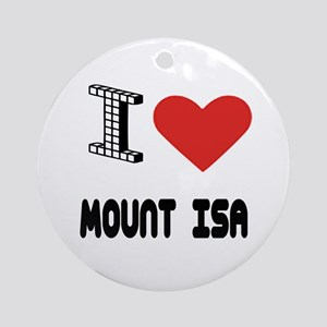 I Love Mount Isa City Round Ornament