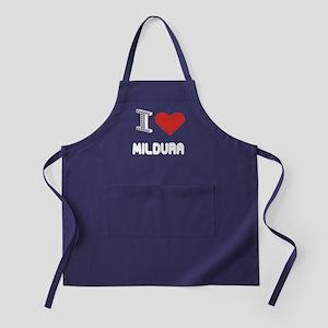 I Love Mildura City Apron (dark)