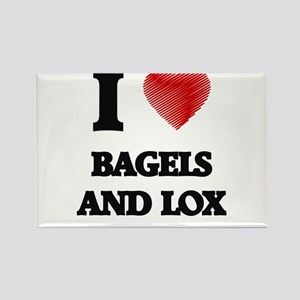 I love Bagels And Lox Magnets