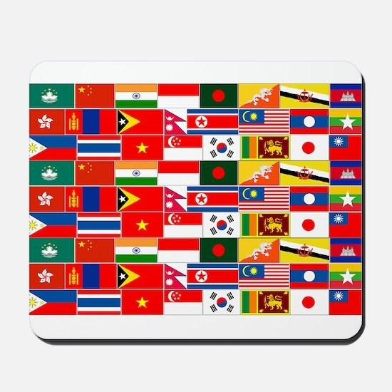 Asian Flags Mousepad