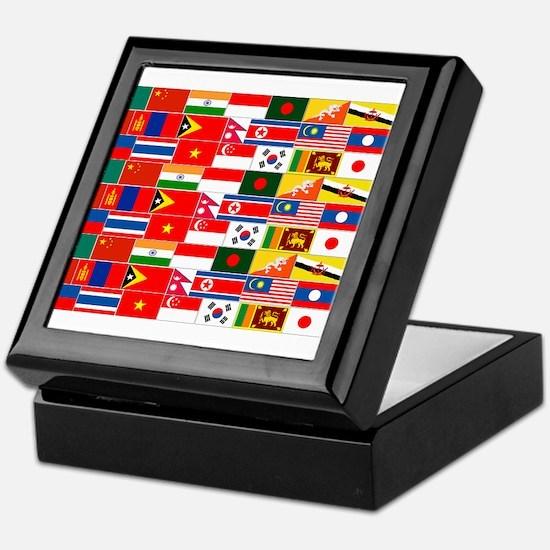 Asian Flags Keepsake Box