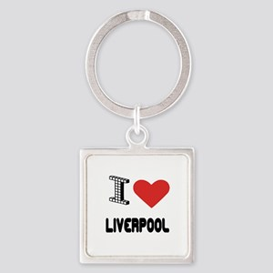 I Love Liverpool City Square Keychain