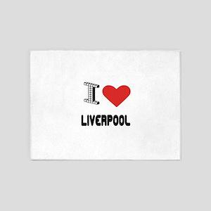I Love Liverpool City 5'x7'Area Rug