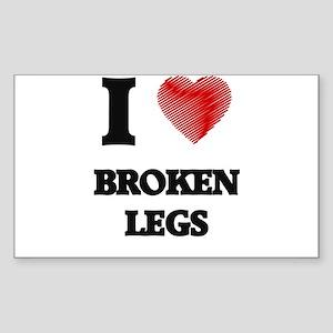 I love Broken Legs Sticker