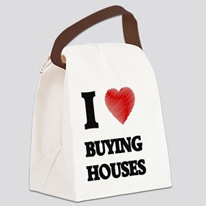 I love Buying Houses Canvas Lunch Bag