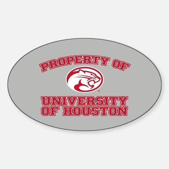 Property of University of Houston Sticker (Oval)