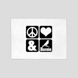 Peace Love Bernie 5'x7'Area Rug