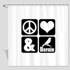 Peace Love Bernie Shower Curtain