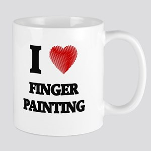 I love Finger Painting Mugs