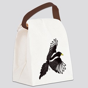 Flying Magpie Canvas Lunch Bag
