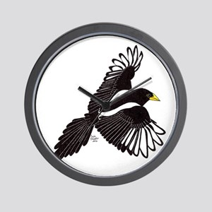 Flying Magpie Wall Clock
