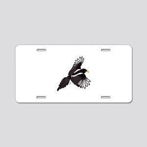 Flying Magpie Aluminum License Plate