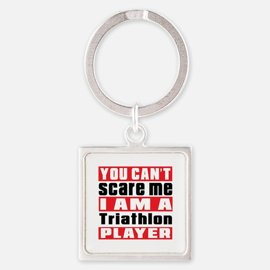 I Am Triathlon Player Square Keychain