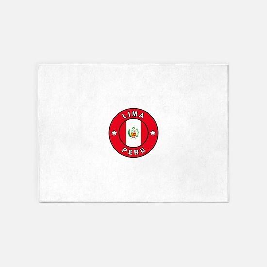 Lima Peru 5'x7'Area Rug