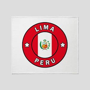 Lima Peru Throw Blanket