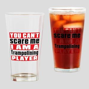 I Am Trampolining Player Drinking Glass