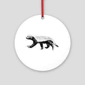 Honey Badger Trott Round Ornament