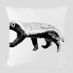 Honey Badger Trott Woven Throw Pillow