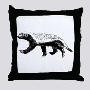 Honey Badger Trott Throw Pillow