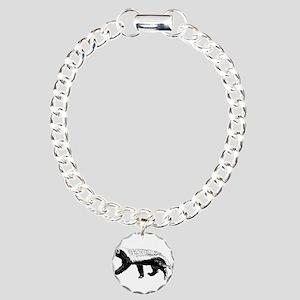 Honey Badger Trott Charm Bracelet, One Charm