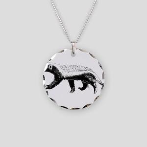 Honey Badger Trott Necklace Circle Charm