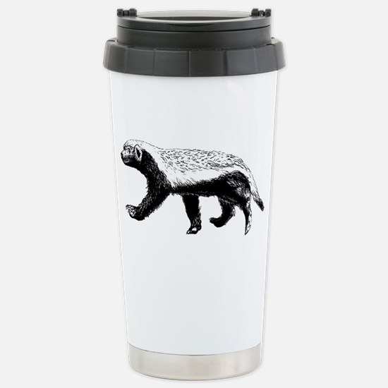 Honey Badger Trott Stainless Steel Travel Mug
