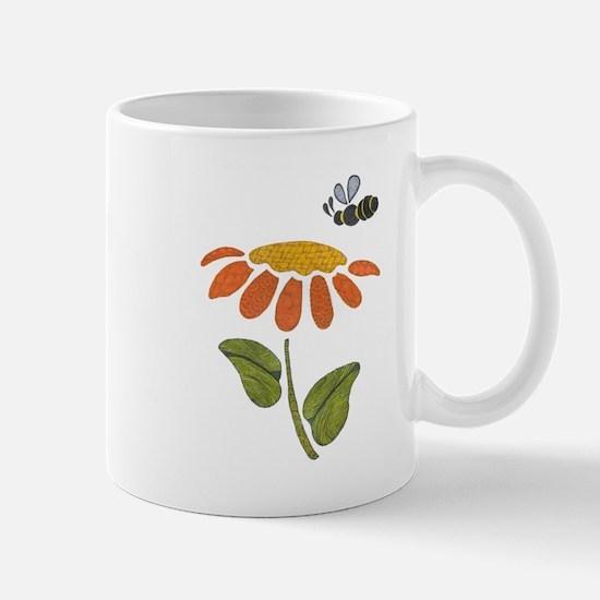 Bee Flower Mugs