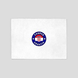 Zagreb Croatia 5'x7'Area Rug