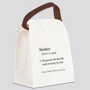 Mother Definition Canvas Lunch Bag