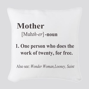 Mother Definition Woven Throw Pillow