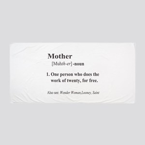 Mother Definition Beach Towel