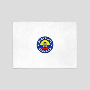 Guayaquil Ecuador 5'x7'Area Rug