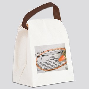 Wanted: 1 kidney Canvas Lunch Bag
