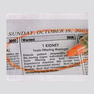 Wanted: 1 kidney Throw Blanket