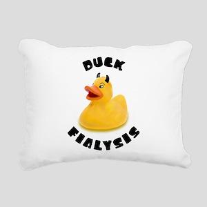 Duck Fialysis Rectangular Canvas Pillow