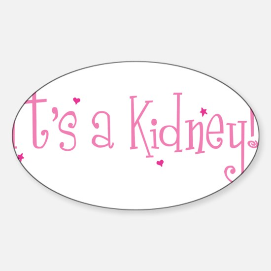 Its a Kidney! (pink) Decal