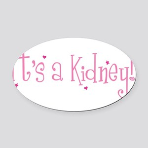 Its a Kidney! (pink) Oval Car Magnet