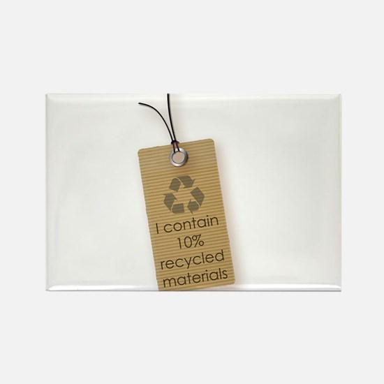 I contain 10% recycled materials (vertical) Magnet
