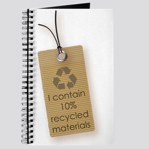 I contain 10% recycled materials (vertical) Journa