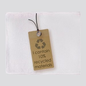 I contain 10% recycled materials (vertical) Throw