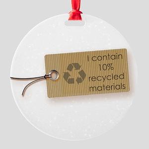 I contain 10% recycled materials (horizontal) Orna