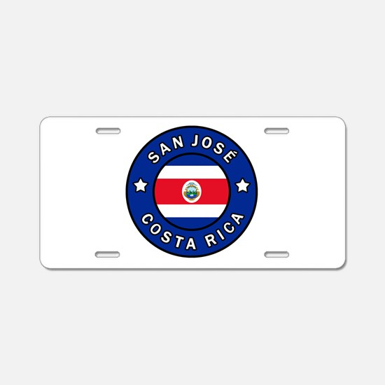 San Jose Costa Rica Aluminum License Plate