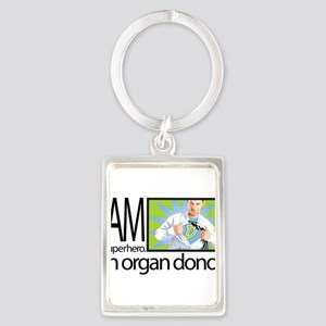 I am a superhero. I am an organ donor. Keychains
