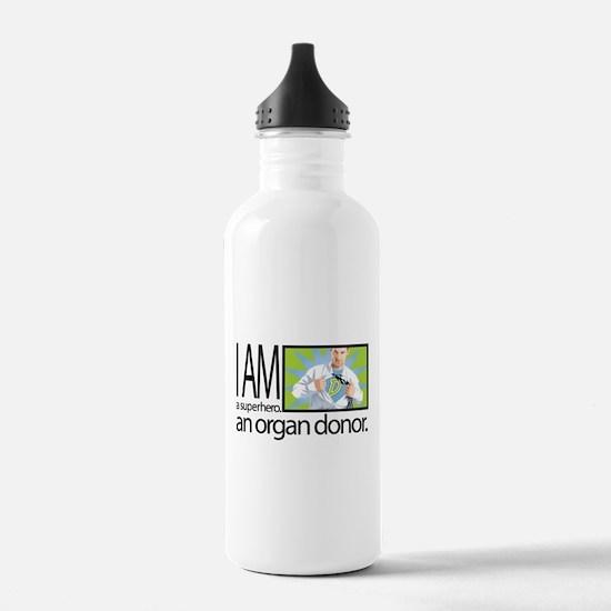 I am a superhero. I am an organ donor. Water Bottl