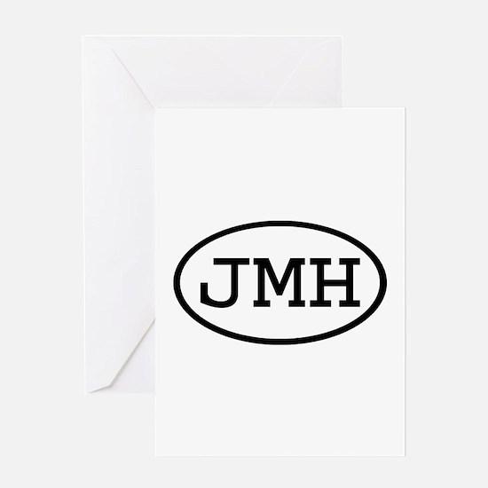 JMH Oval Greeting Card