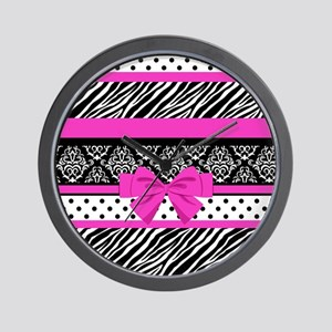 Safari: Hot Pink Wall Clock
