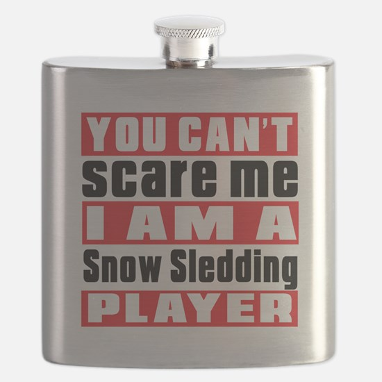 I Am Snow Sledding Player Flask